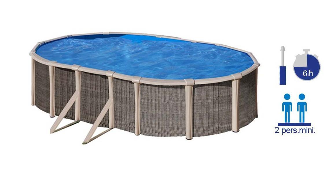 piscine ovale en acier ovale gré fusion