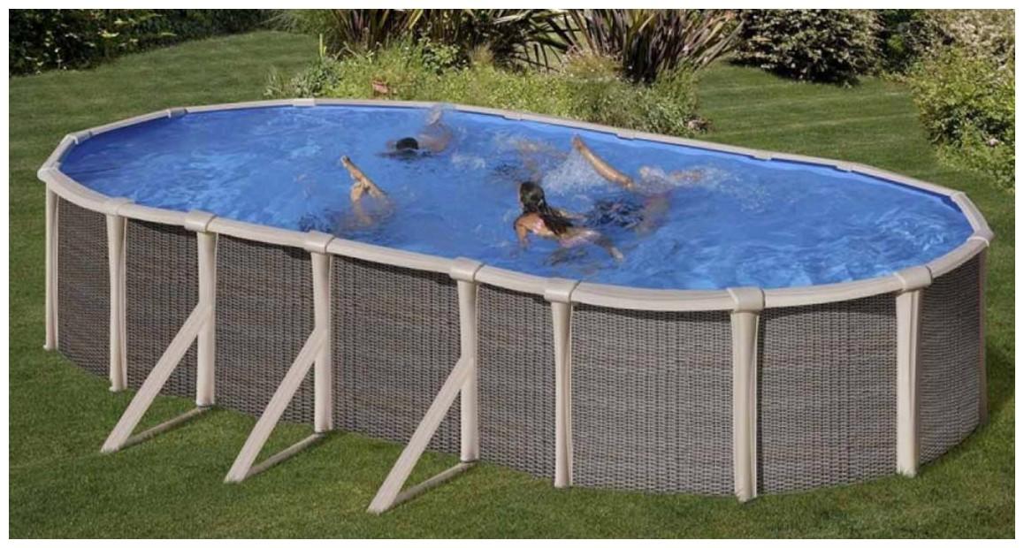 kit piscine en acier gamme fusion Gré en situation