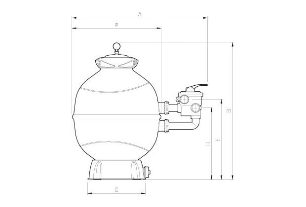 filtre piscine Libra Side Espa dimensions