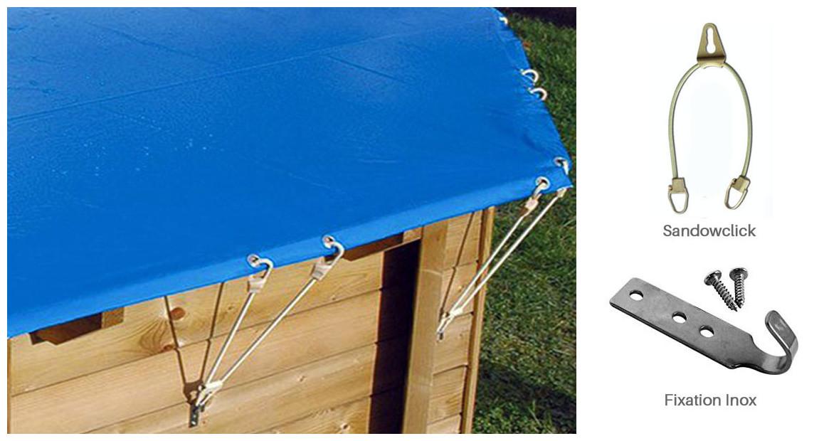 fixation pour bâches hiver opaques pour piscine bois woodfirst original hexa