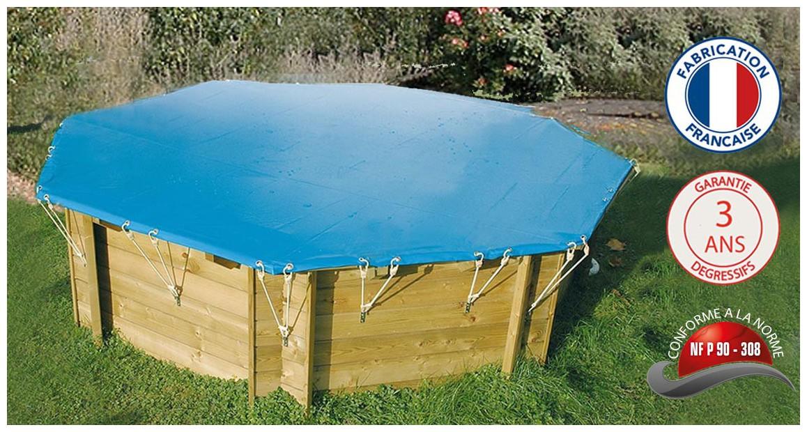 bâches opaques pour piscines bois hexagonales woodfirst original