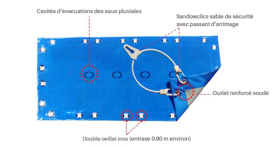 descriptif de la bâche hiver pour piscine bois woodfirst original