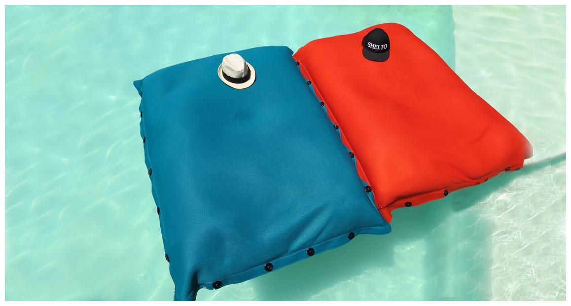 pouf gonflable géant pour piscine shelto en situation