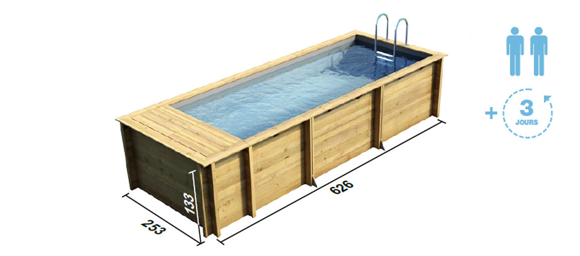 Dimensions de la piscine Pool and box par Proswell
