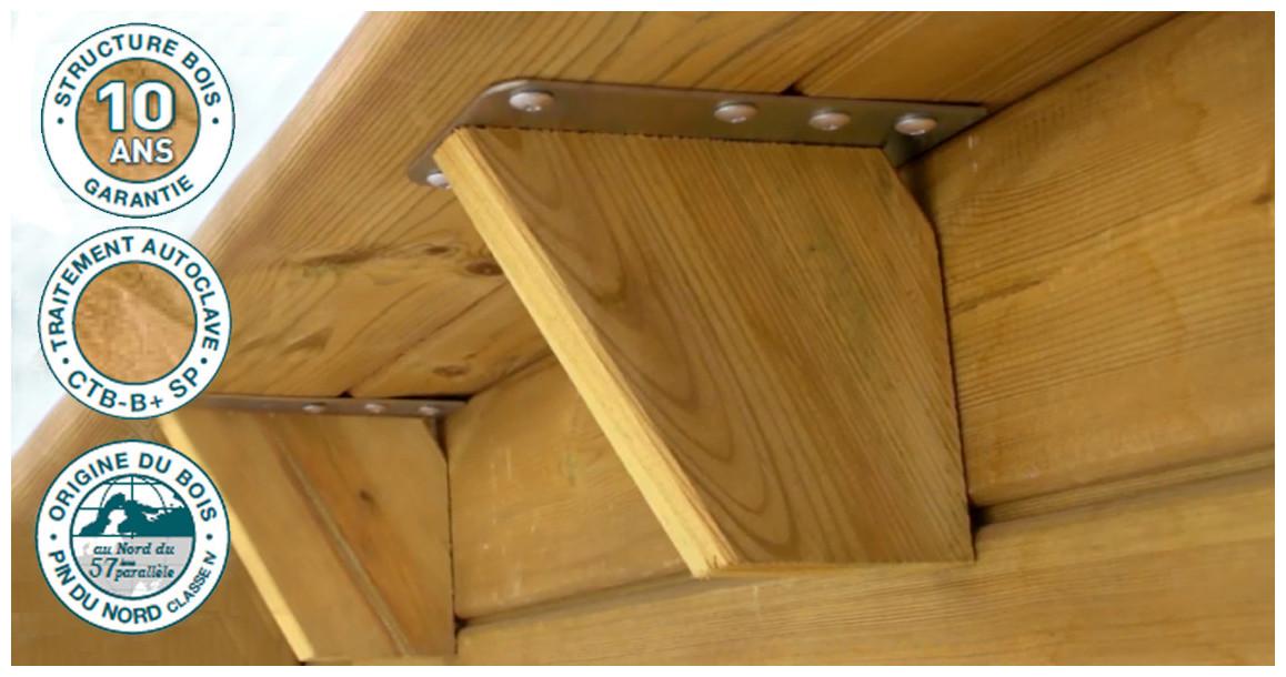 structure bois de la piscine proswell pool n box