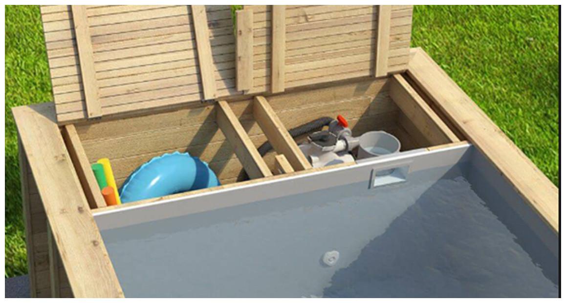 équipement de série de la piscine pool n box proswell