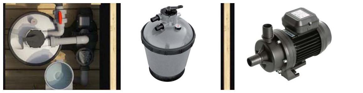 filtration de la piscine bois proswell pool n box