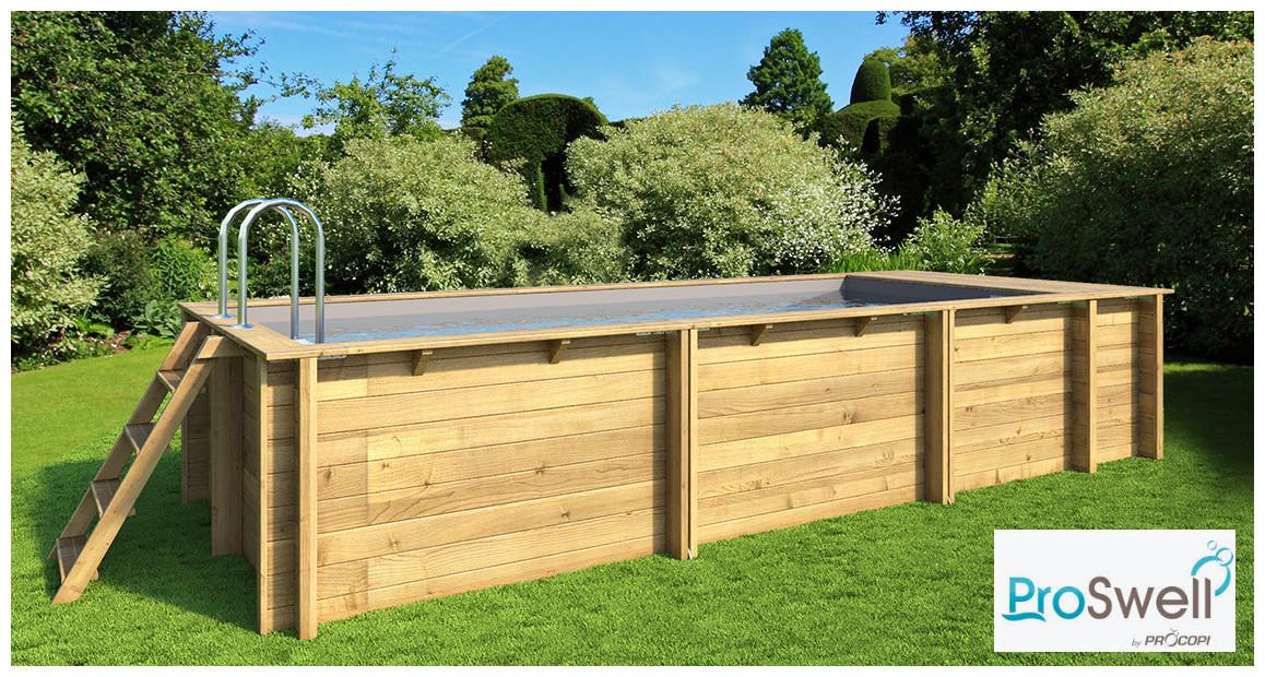 piscine bois pool n box proswell avec coffre de filtration