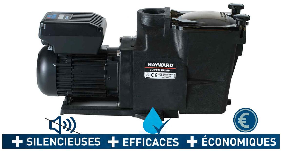pompe de filtration à vitesse variable superpum vstd hayward en situation