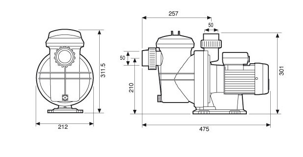 pompe espa iris dimensions