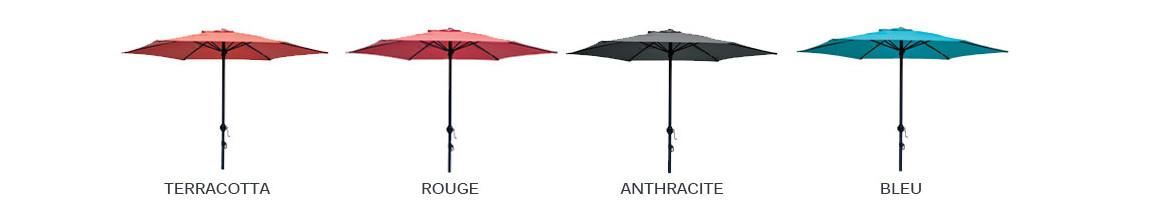 coloris des parasols droit ozalide