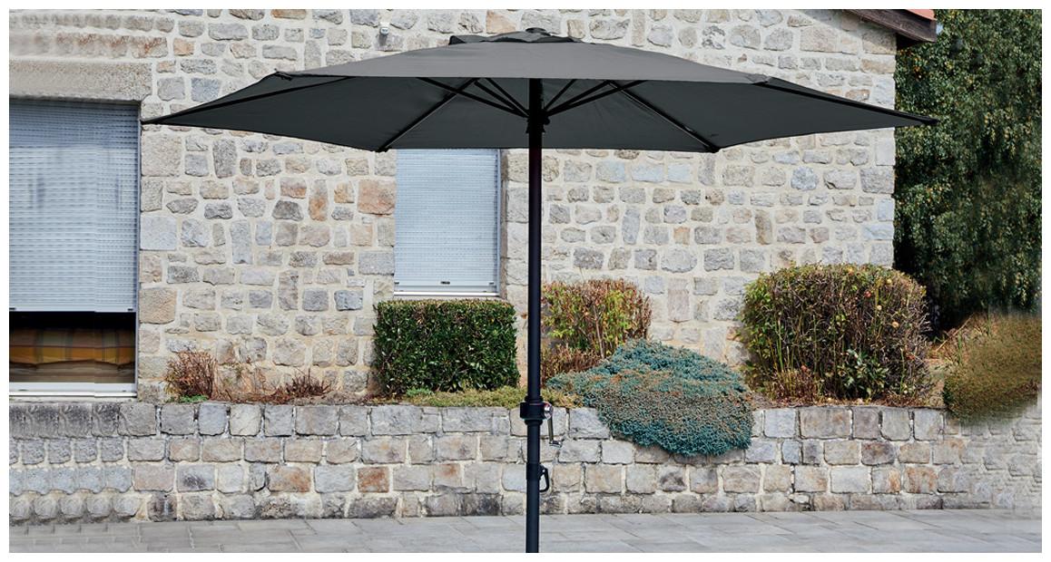 parasol droit rond diamètre 200 en situation