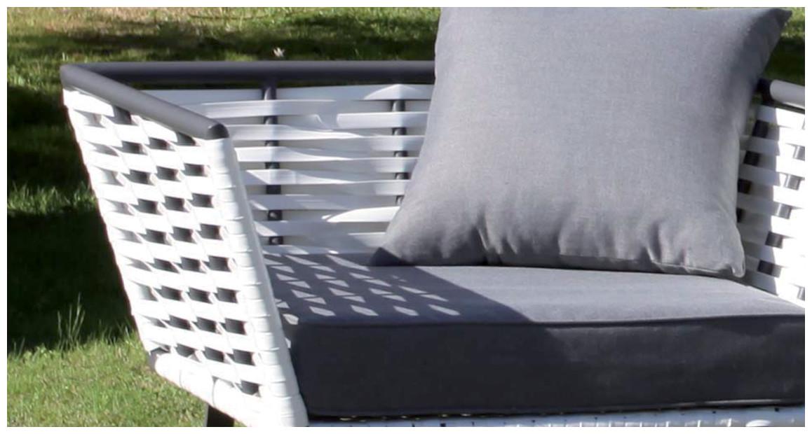 détail du fauteuil d'extérieur horizon