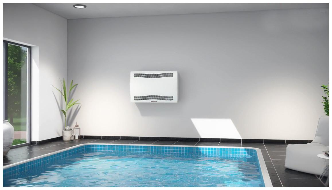 installation du déshumidificateur de piscine teddington CDP en situation