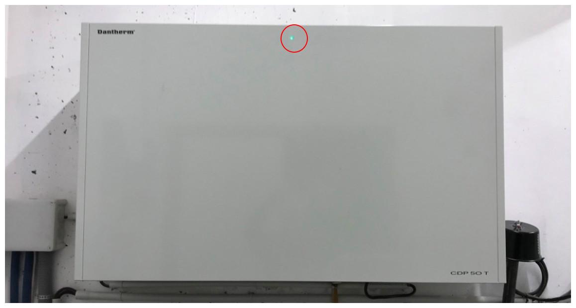 diode lumineuse du déshumidificateur d'air de piscoine dantherm teddington cdp