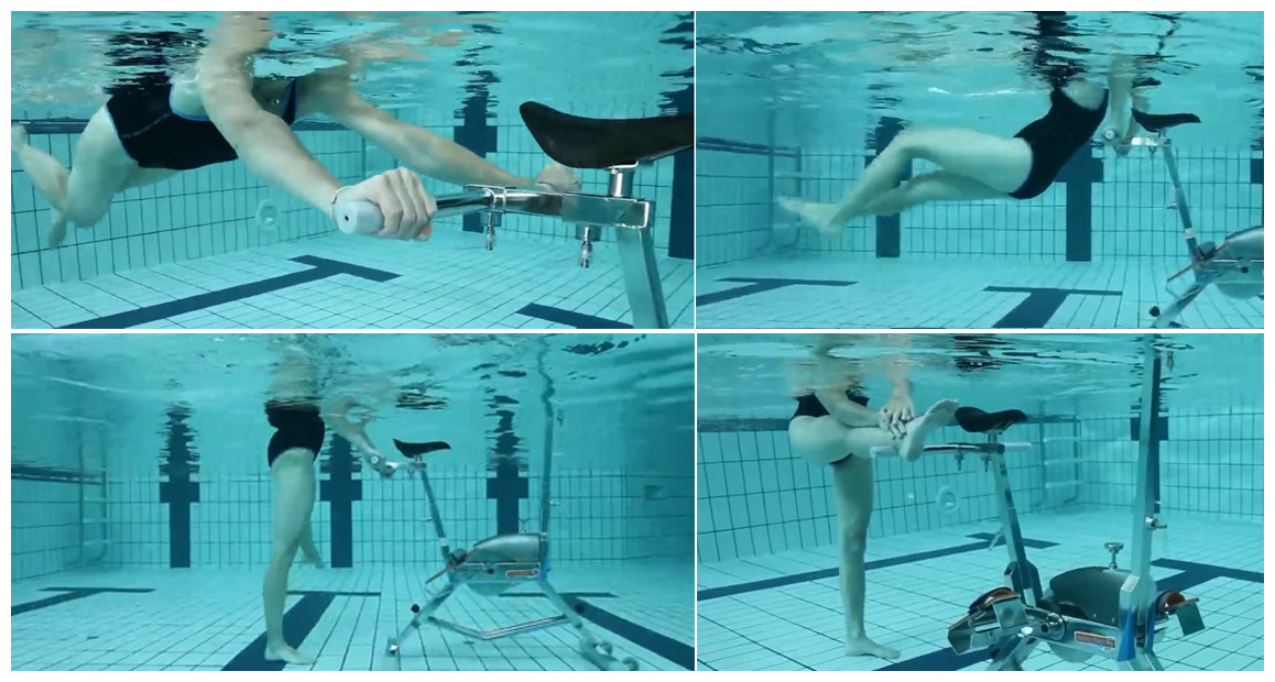 exercices avec la barre multi training waterflex pour wr3 et falcon