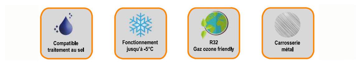 pictogramme de la pompe à chaleur eco clair