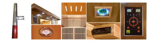 sauna luxe - equipement des cabines