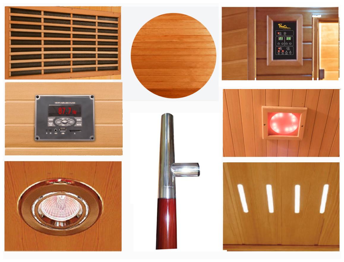 équipement du sauna infrarouge france sauna luxe