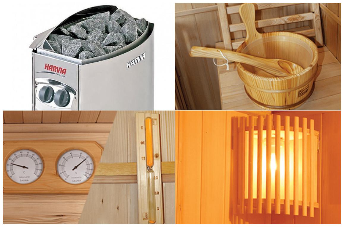 équipements du sauna vapeur zen
