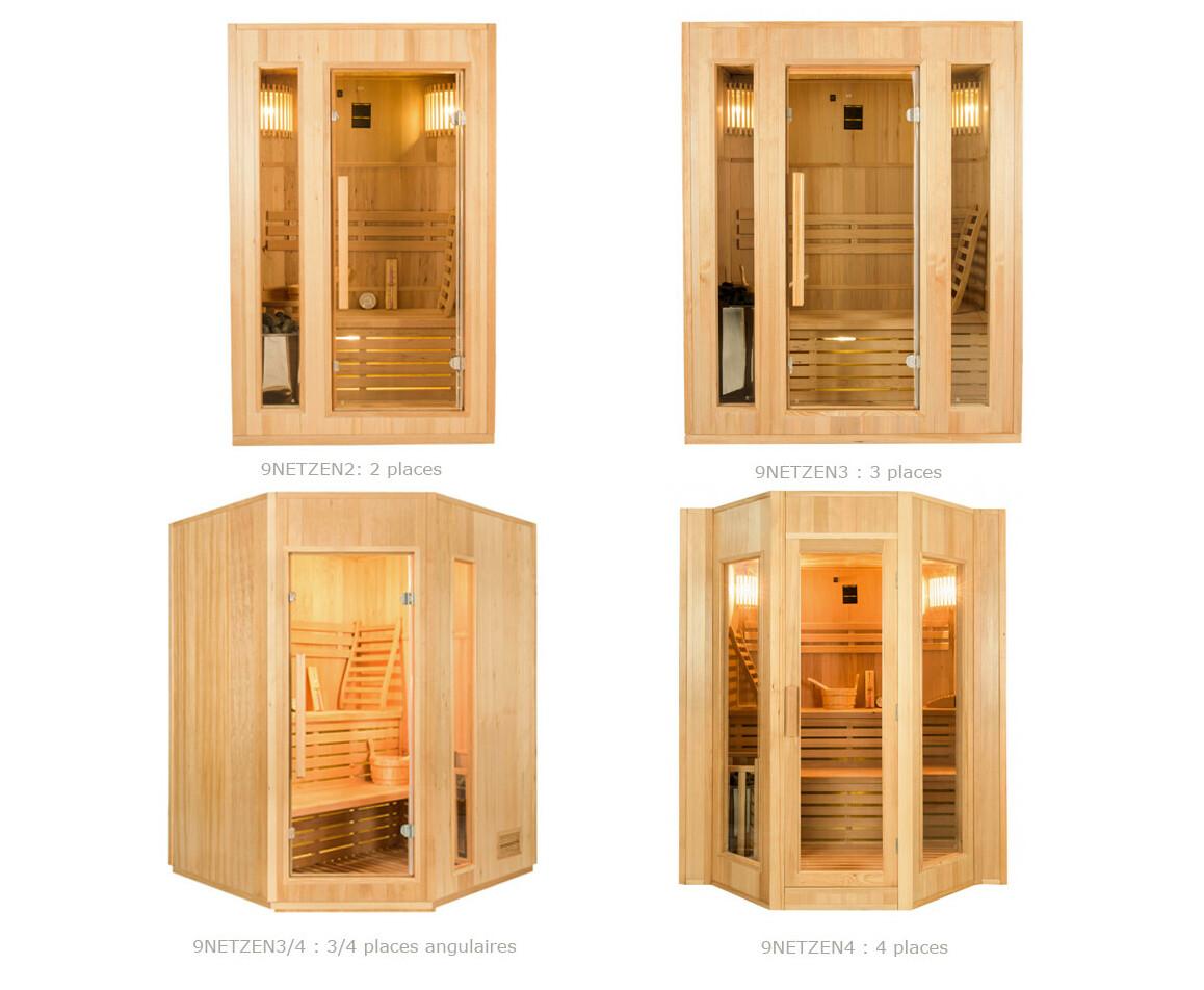 différentes tailles de saunas vapeur traditionnelle zen france sauna
