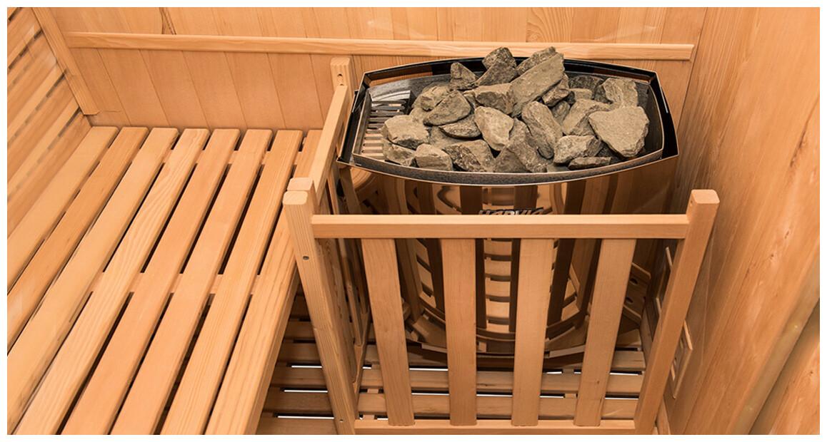 poêle harvia pour sauna zen vapeur traditionnel