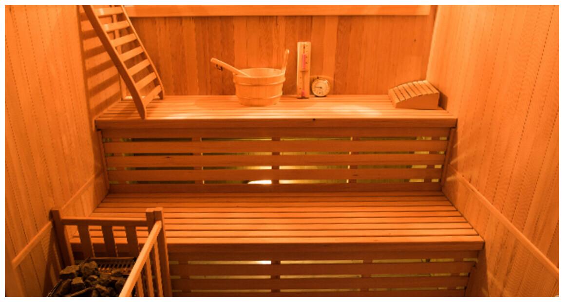 double banc du sauna vapeur traditionnelle zen par France Sauna