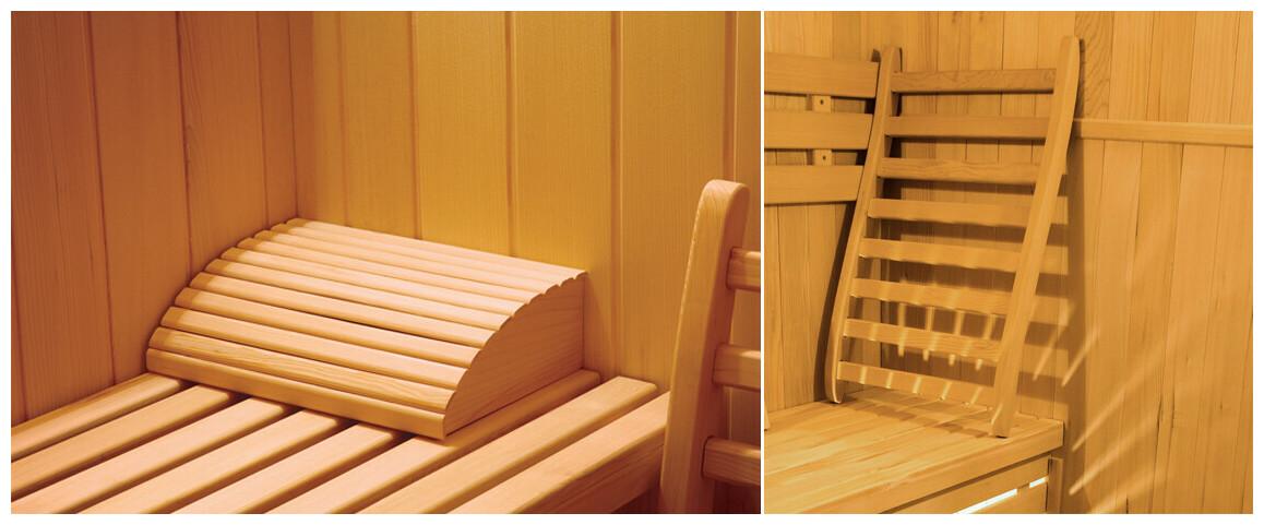 équipements en option du sauna vapeur traditionnelle zen
