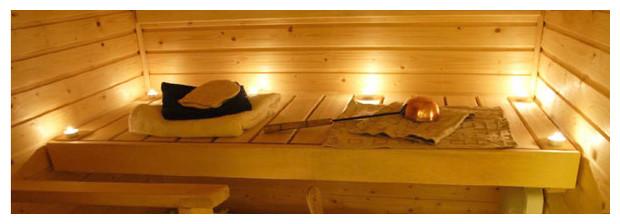 sauna traditonnel Zen ambiance