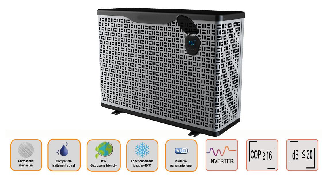 pompe à chaleur piscine à technologie full inverter platinium boost en situation