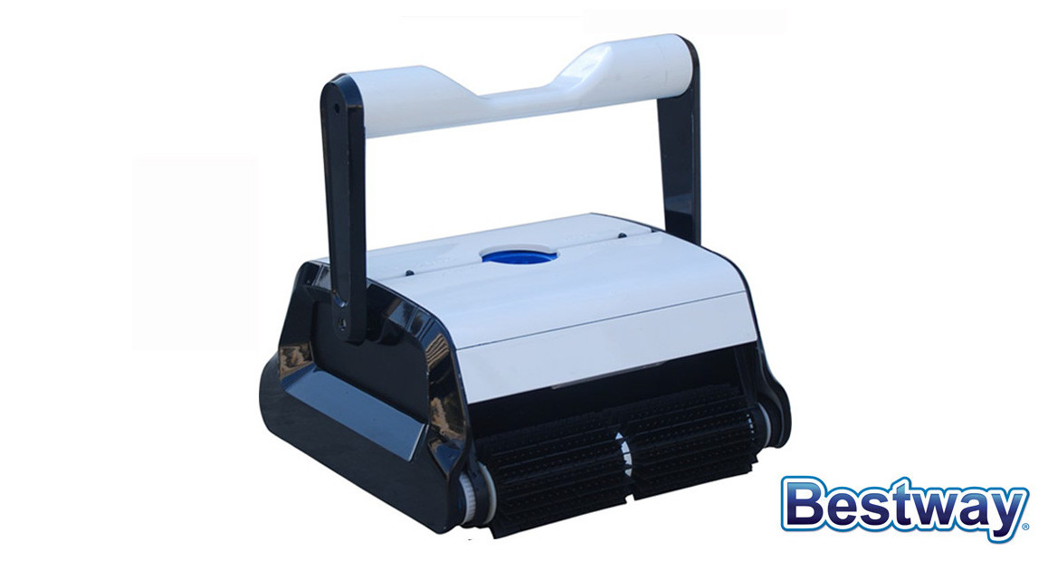 robot électrique de piscine pour fond parois et ligne d'eau Bestaway Cleaner en situation
