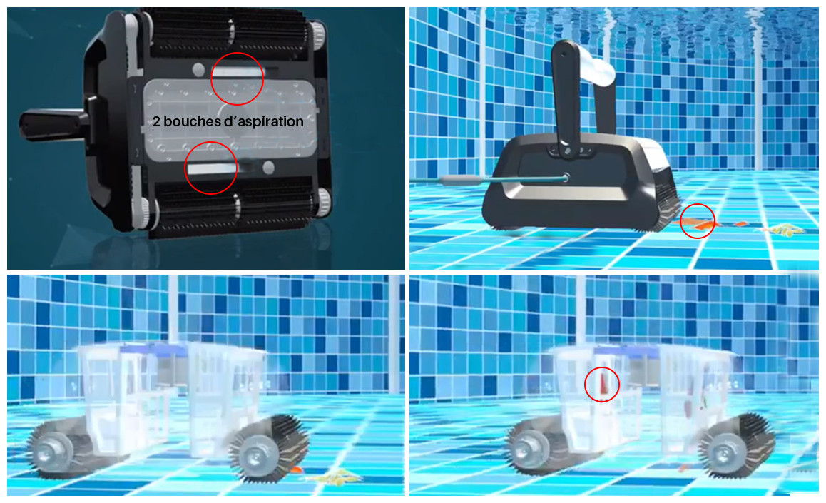 filtration du robot de piscine bestway Cleaner