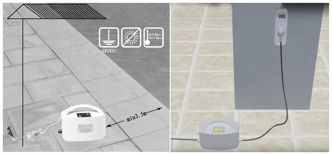 installation du robot de piscine bestway cleaner