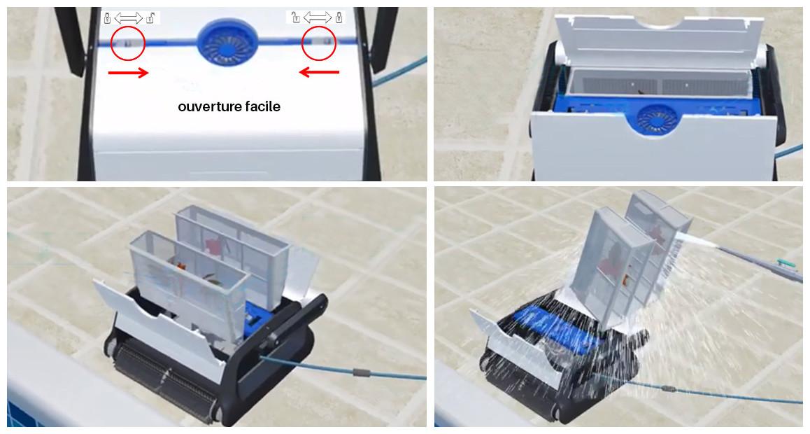 entretien du filtre du robot de piscine Bestway Cleaner en situation