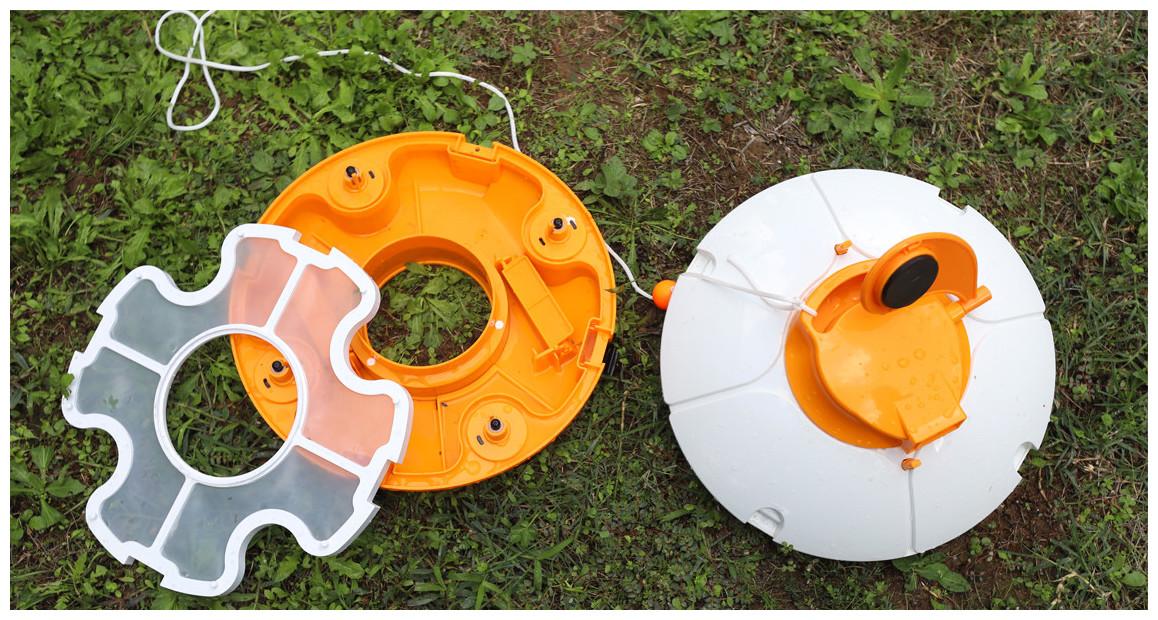 filtration du robot de piscine rechargeable fresbee en situation