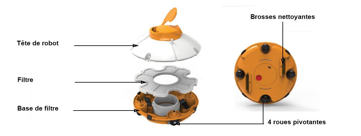 Descriptif du robot de piscine sans fil fresbee bestway