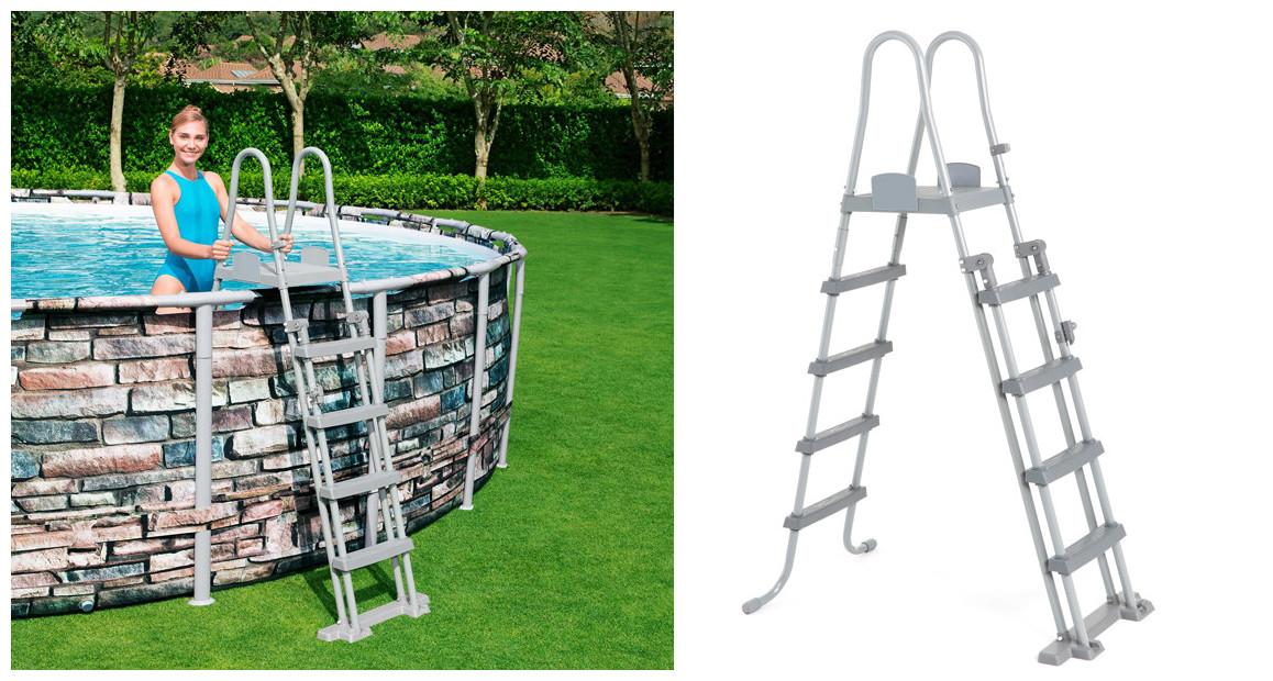 échelle d'accès piscine hors sol bestway 132 cm