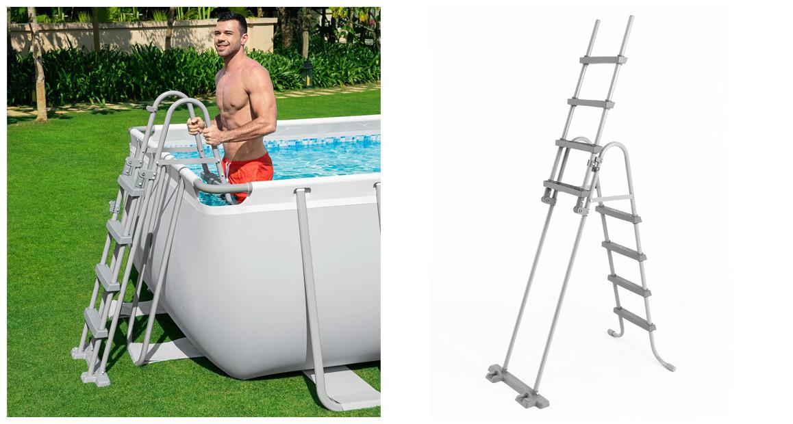 échelle d'accès piscine hors sol bestway 122 cm