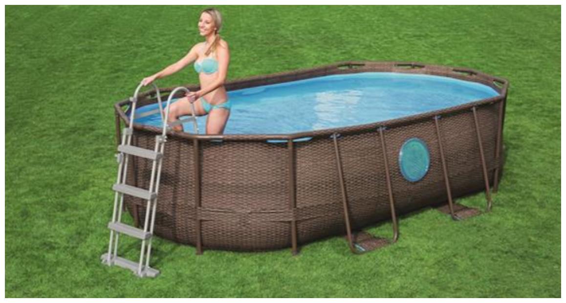 échelle de sécurité 2 x 3 marches pour piscine hors sol Besway