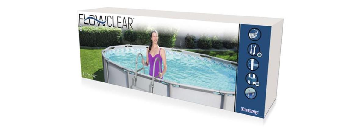 colisage échelle de sécurité 2 x 3 marches pour piscine hors sol Besway