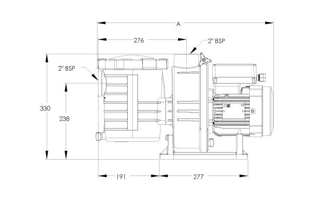 ultraflow pompe piscine dimensions