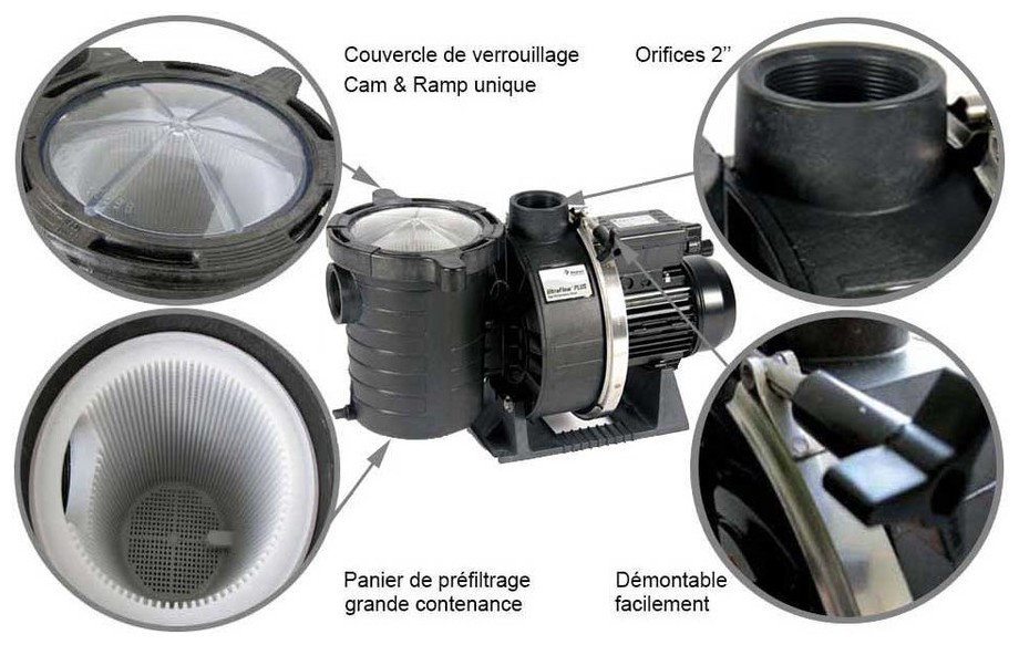 fiche technique de la pompe de filtration de piscine Ultra Flow by Pentair