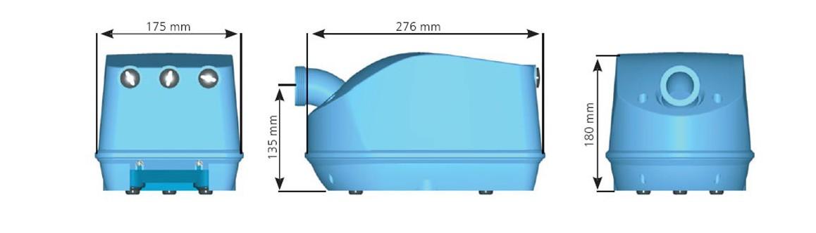 dimensions du blower pour spa