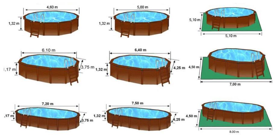 grand choix piscine gr acier bois toute quip e piscine. Black Bedroom Furniture Sets. Home Design Ideas