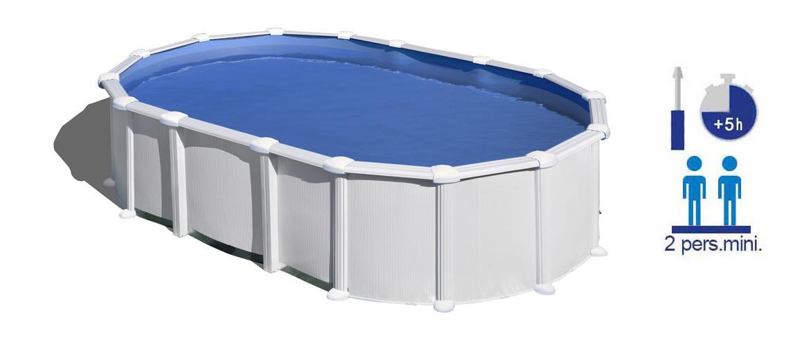 caractéristiques de la piscine hors sol acier blanc haiti en situation