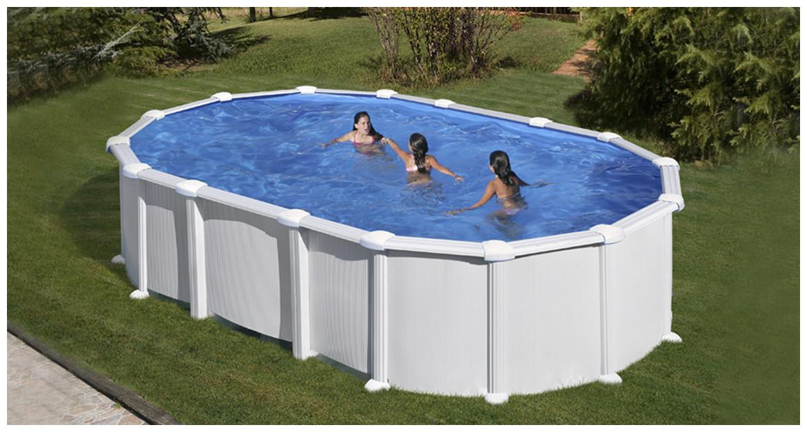 piscine hors sol en acier blanc haiti par gré en situation