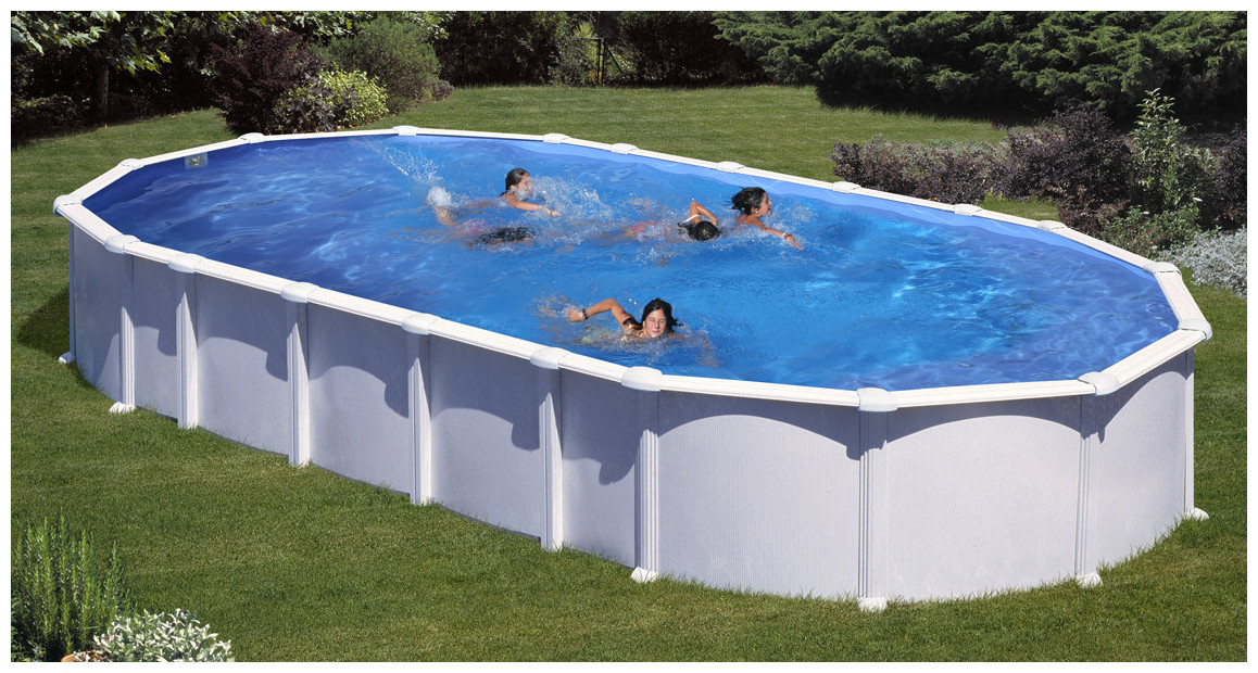 piscine en acier blanc haiti en situation