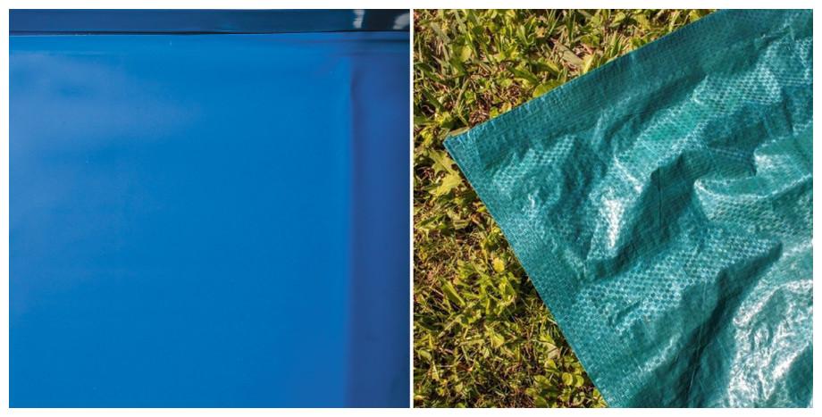Piscine hors-sol Gré acier - Gamme Haiti - liner et tapis de sol