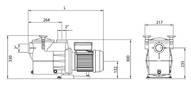 pompe piscine europa dimensions