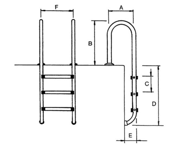 Echelle piscine bois dimensions